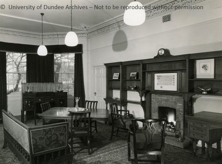 The Masters Room Queens College Dundee1956 From University Of Dundee Archive Services