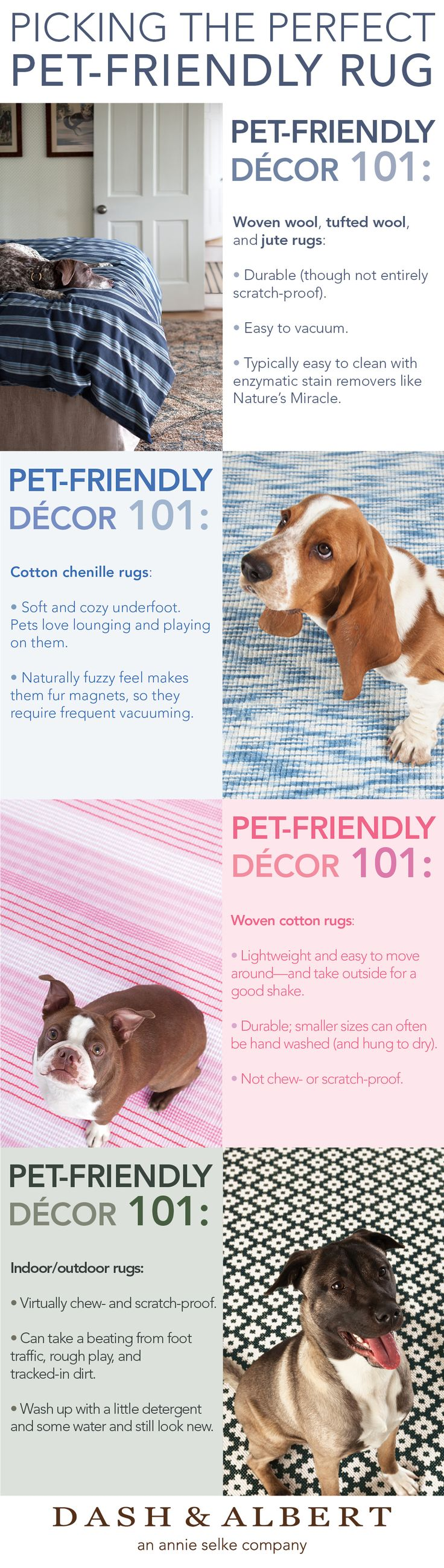 Pet-Friendly Decor 101. What type of rug would your pet prefer?