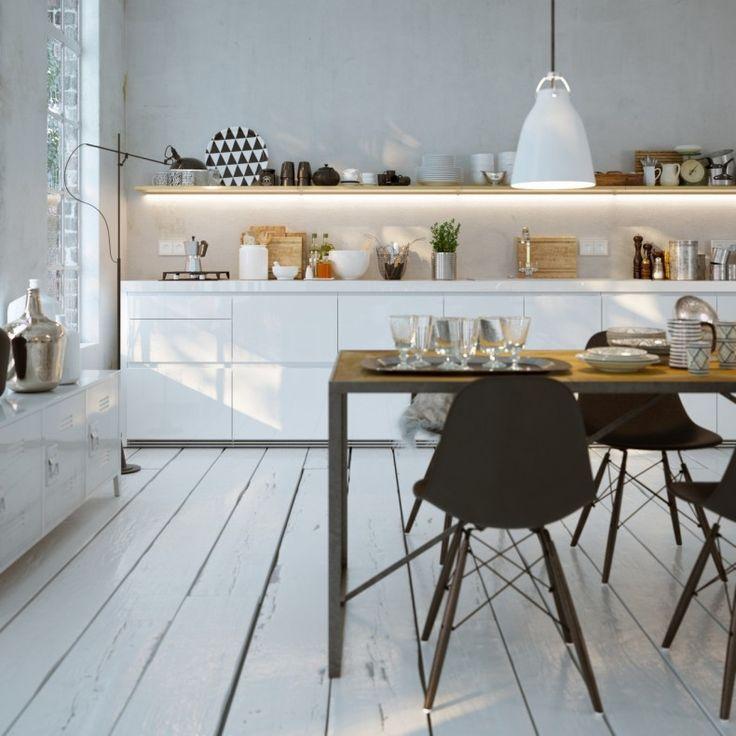 Oświetlenie w kuchni - blatów roboczych oraz stołu