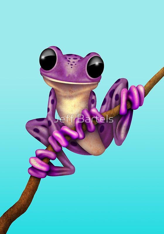 Cute Purple Tree Frog on a Branch | Jeff Bartels