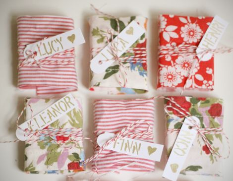 fabric wrapped valentines