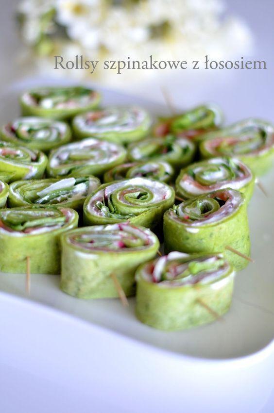 rollsy szpinakowe z twarożkiem, szybkie przekąski na imprezę, przekąski, oliwki w cieście francuskim, warkocze z ciasta francuskiego, cammy, kuchnia, grissini z szynką szwarcwaldzką,grissini