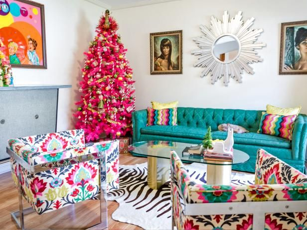 DIY Network loves these over-the-top, retro themed Christmas trees.