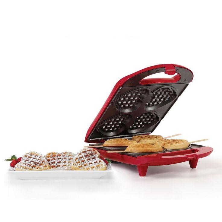 Heart Shaped Waffle Maker, Red