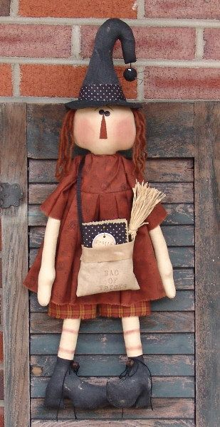 Sewing E Pattern Raggedy Witch and her Bag of by CindysHomespun, $5.50