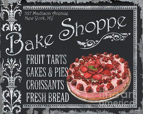 Bake Shoppe Print By Debbie Dewitt