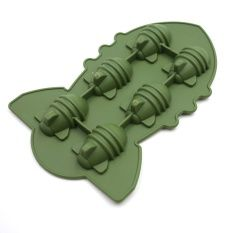 Velishy Atomic Bomb Shape Ice Tray Army green