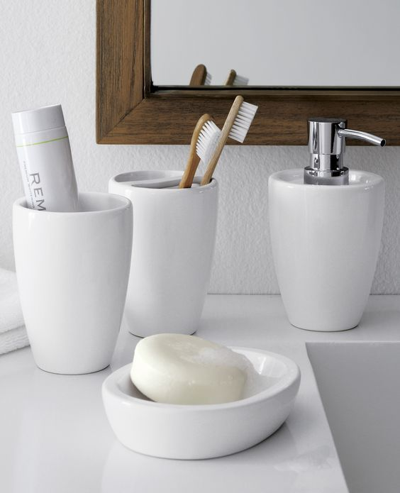 Basic  functional and pure white  Our bathroom accessories offer subtle design elements that are. 1000  ideas about Contemporary Bathroom Accessories on Pinterest