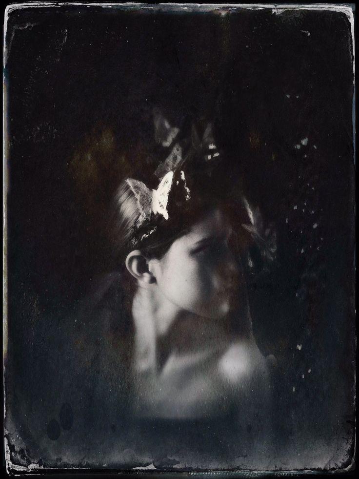 Midsummer Tin Type Magic Headdress - Mascherina Photo - Melora Walters Model- Joanna Walsh