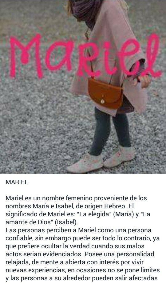 Nombres de niñas, significado del nombre Mariel