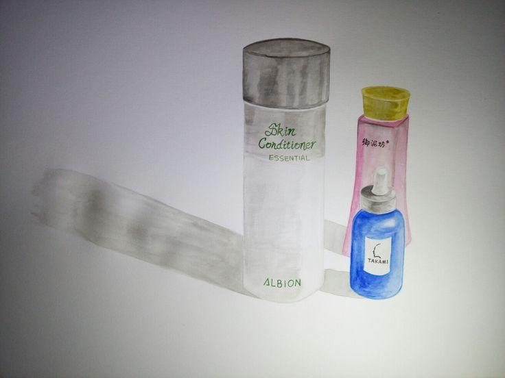 Watercolour drawing:toner