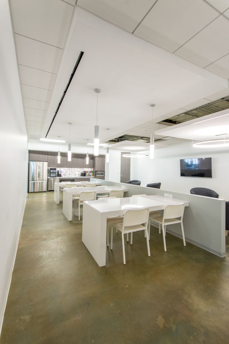 Office furniture galway - Galway Group Modern Design With Dark Concrete Flooring And Clean White Furniture In Contemporary Space For