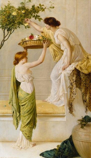 A Basket of Roses, Grecian Girls, Henry Thomas Schaefer