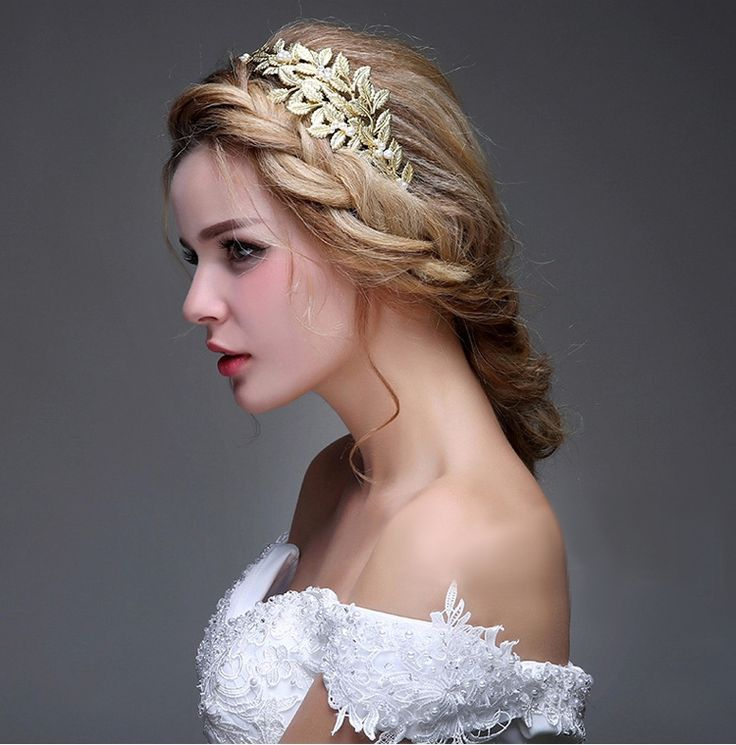 Accessories Jewelry Cheap On Sale At Reasonable Prices Buy 2015 Gold Bridal Headpiece Beads Wedding Hair Leaves Headbands