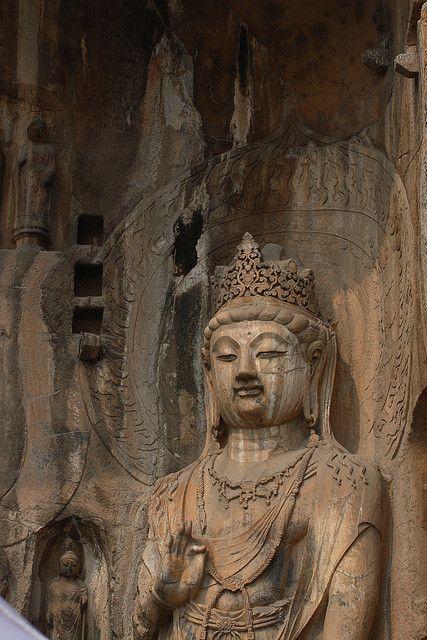 Longmen Grottoes, LuoYang, China by tedwang, via Flickr