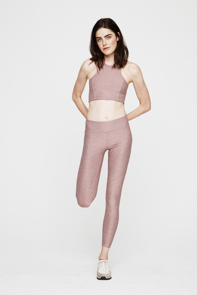 OV's signature Athena Crop moves with you down the track, up the trail, and on...