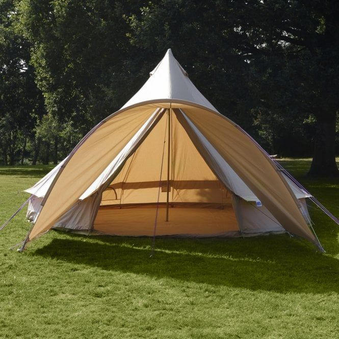 Bell Star Tent Curved Canopy Sandstone 2m Depth Canvas Bell Tent Tent Yurt Tent