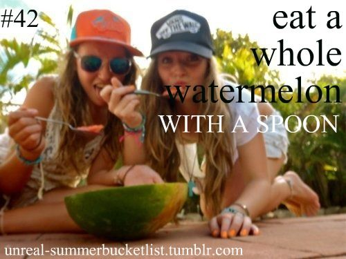 I dont see the coolness in this. I eat a whole watermelon like every other day in the summer...