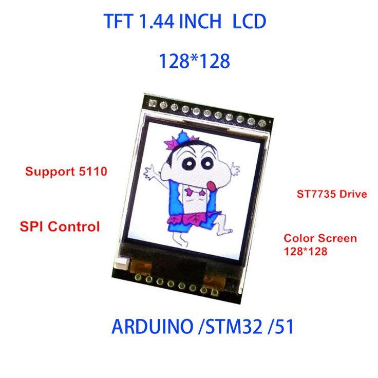 """5 فولت/3.3 فولت 1.44 """"tft 1.44 بوصة lcd وحدة العرض 128*128 اللون sreen spi المتوافقة لاردوينو mega2560/stm32/scm 51"""