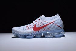 4a621582a195 Elegant Graceful NikeLab Air Vapormax Flyknit Grey White Red Flexible 849558  006 Sneakers Men s Running Shoes