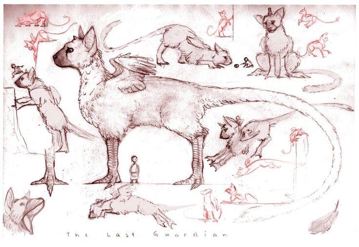 Last Guardian sketches... by SammyTorres on DeviantArt