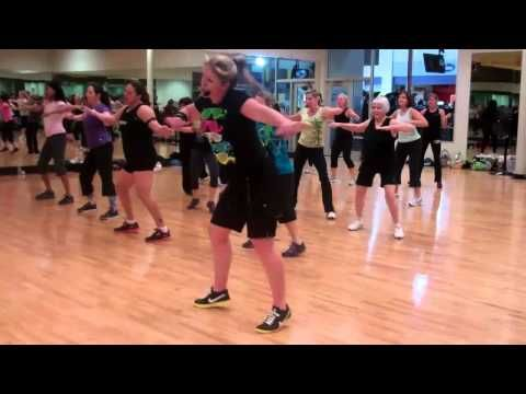 "Cute routine done to Footloose.  (This would be fun in our ""Cardio Craze"" class--I think our instructor Janefer could even IMPROVE IT!--(A FUN SONG FOR SURE!)"