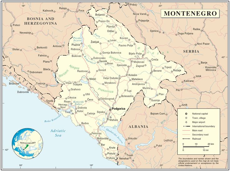 Montenegro map - Bing Images