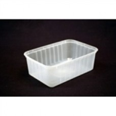 RECTANGLE CONTAINER 1000ML PLASTIC RIDGED 500/CTN In Stock   $96.11 Let guests take food home or store ingredients freshly behind the counter. Plastic containers are the most affordable way to store food and provide a practical solution for guests.