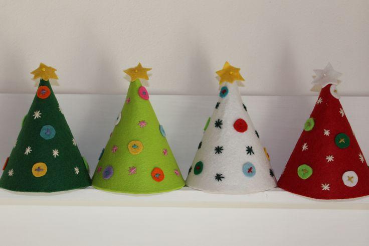 Alberi di Natale di feltro