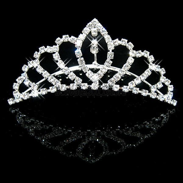Bridal Bridesmaid Crystal Rhinestone Headband Tiaras Wedding Crown Prom Comb A67 #Tiara