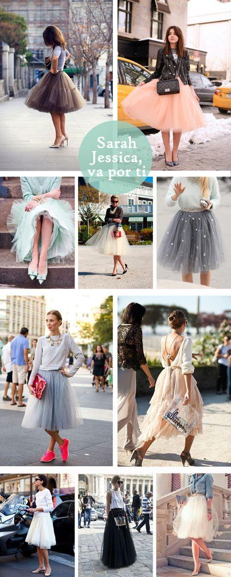 Una recopilación de los mejores estilismos con faldas de tul, una forma muy divertida de homenajear nuestra serie favorita. ¡Qué viva la Bradshaw!
