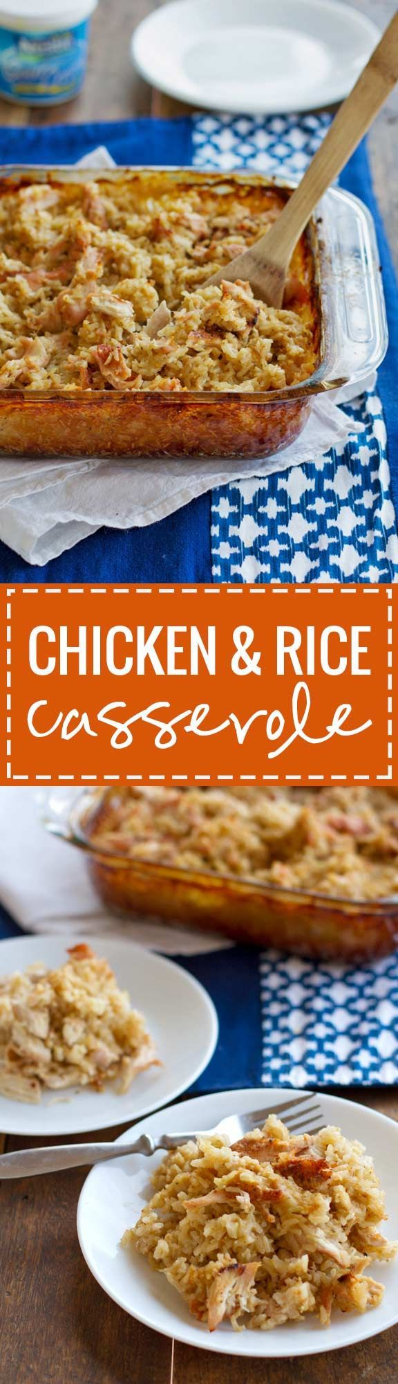 Chicken and Rice Casserole - a simple and satisfying casserole with easy ingredients | pinchofyum.com