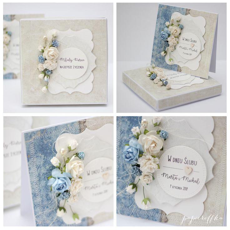kartka na ślub pudełko
