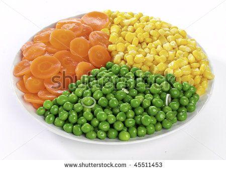 peas corn carrots