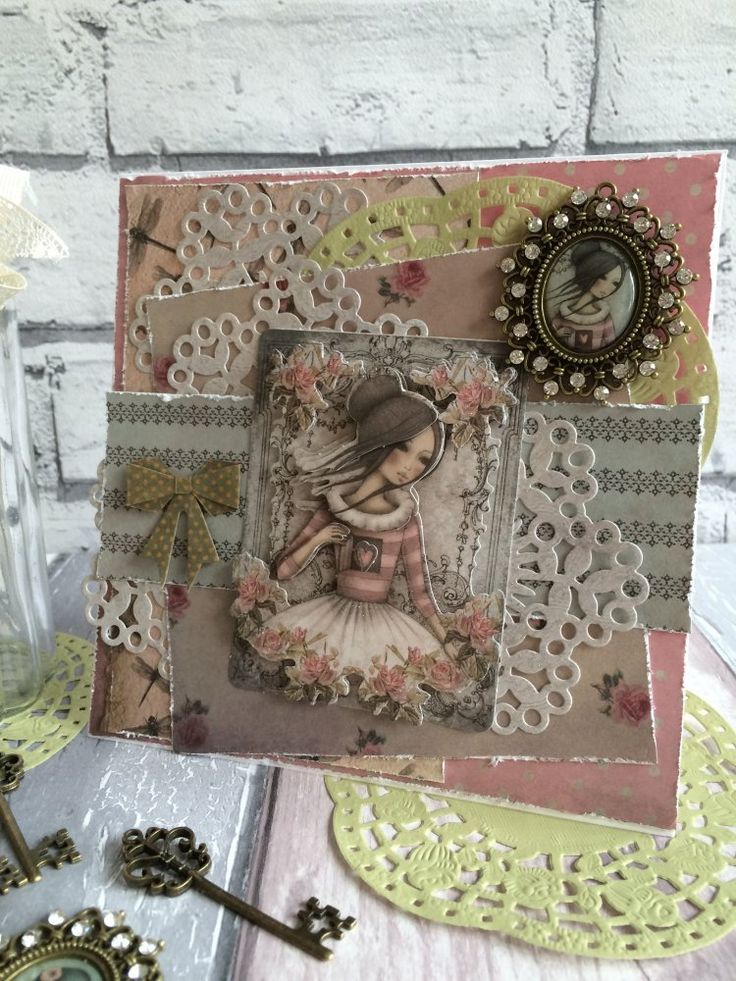 Lovely Santoro Mirabelle embellished card made by Maxine