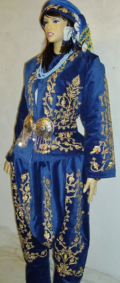 Traditional bridal/festive costume from the Silivri district (West of Istanbul). Clothing style: 2nd half of 19th century.