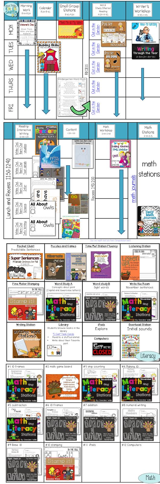 Owl Lesson Plans for a fun week in kindergarten and first grade!