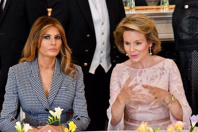 Reis Philippe e Mathilde recebram Donald Tramp e a sua esposa no Palácio Real de Bruxelas - Blog_Real - O Blog das Monarquias