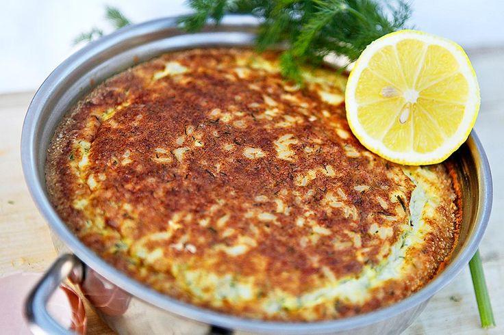 Fiskpudding, baserad på rester av kokt fisk eller ris, blir både billig och god när den smaksätts av dill och kaviar.