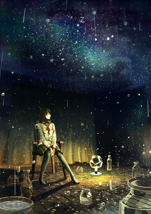 #anime #black #stars #imagination