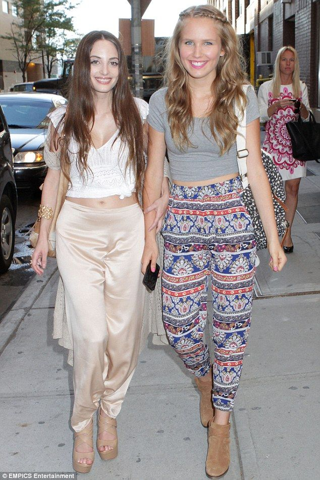 Stylish sisters: Alexa Ray Joel and Sailor Brinkley-Cook made for a chic pair as they headed out for the day in New York City on Monday