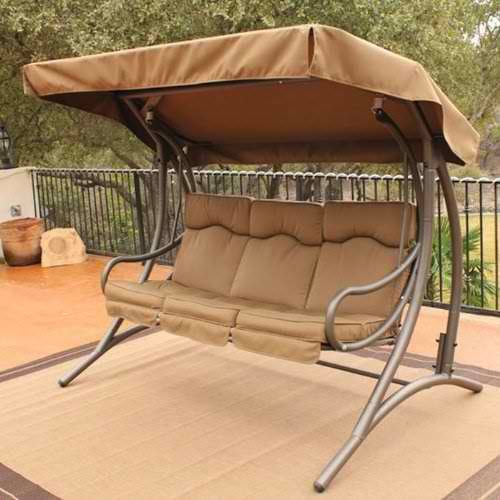 9 Cool and Cozy Patio Swing with Canopy Designs - CanopyKingpin.com