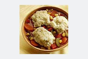 Wheat hot cereal turns into savory dumplings when an egg and margarine are added. Cook over a simmering soup or stew to fluffy perfection.