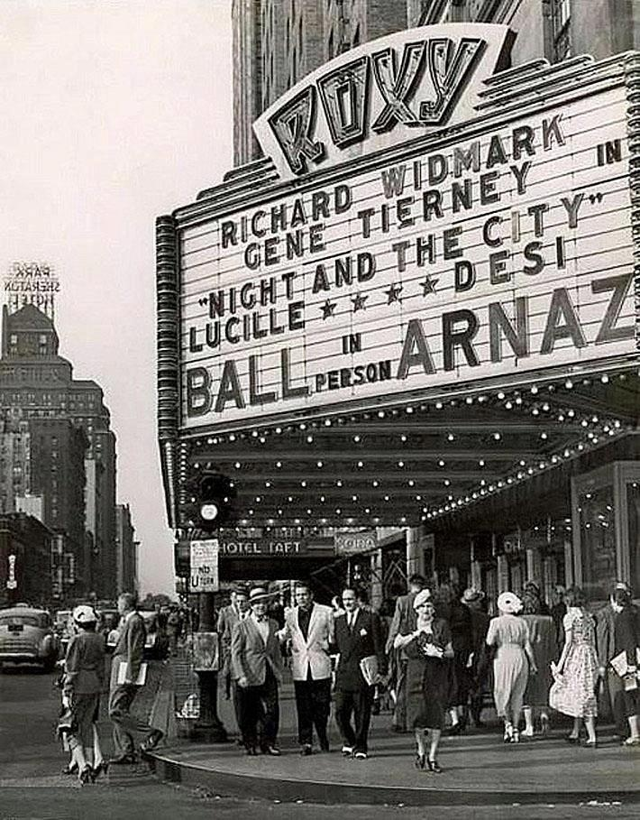 AT THE ROXY. DESI ARNAZ UNDER THE SIGN