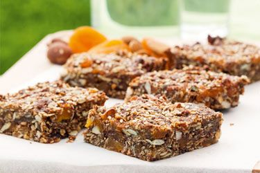 Apricot Scroggin Slice - a healthy and high energy treat for sweet snackers