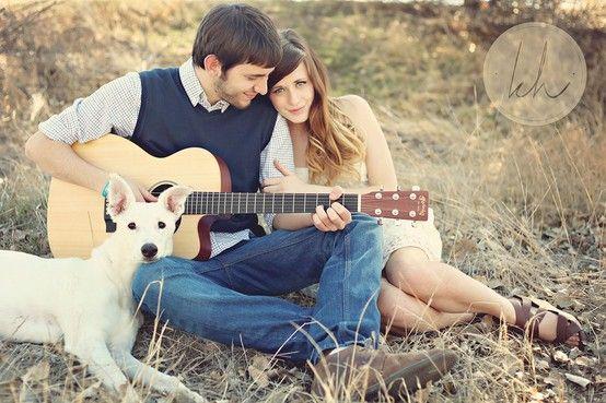 Engagement Pose with dog | Kourtney Hand Photography