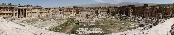 Baalbeck, also known as Baalbek (Arabic: بعلبك / ALA-LC: Baʻalbik, Lebanese pronunciation: [ˈbʕalbik]) is a town in the Beqaa Valley of Lebanon situated east of the Litani River. Known as Heliopolis (Greek: Ἡλιούπολις) during the period of Roman rule, it was one of the largest sanctuaries in the empire and contains some of the best preserved Roman ruins in Lebanon.