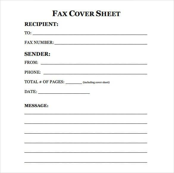 Download ] Sample Fax Cover Sheet Templates | Every Last ...