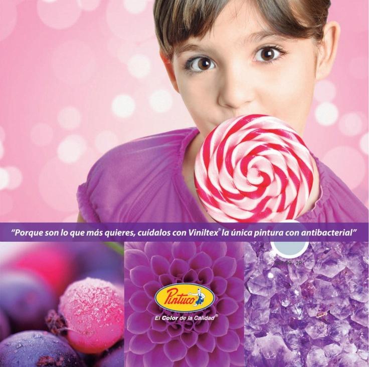 Colores violetas