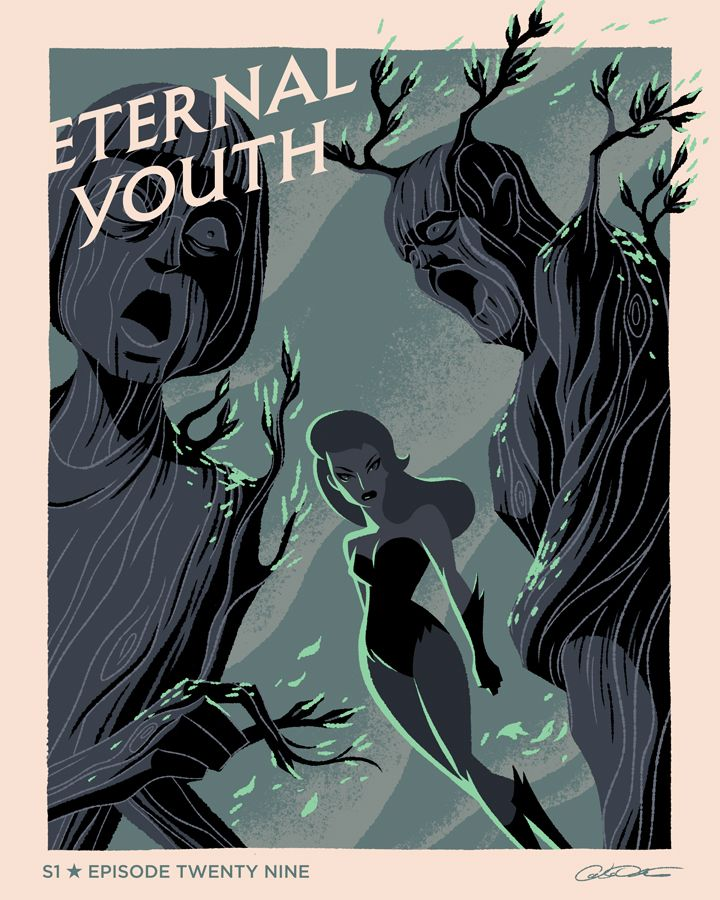 """caltsoudas:  My poster for Episode 29 of Batman The Animated Series   Nice one!""""Eternal Youth"""""""